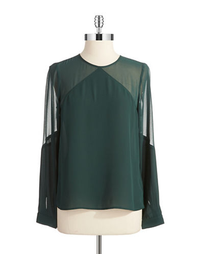1 STATE Semi Sheer Blouse