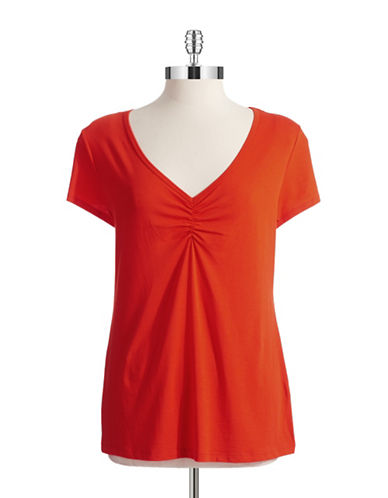 TWO BY VINCE CAMUTO Ruched Tee