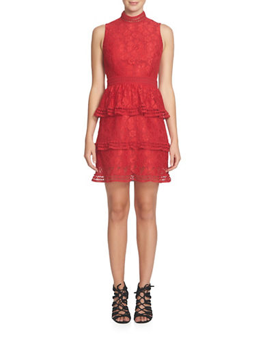 womens lace tiered dress lord taylor
