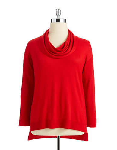 Vince Camuto Plus Plus Cowl Neck Sweater