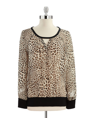 Two By Vince Camuto Leopard Print Top
