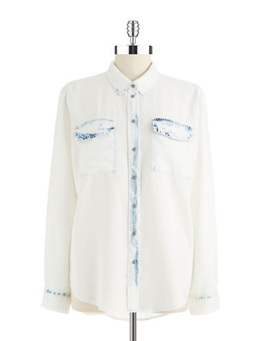 TWO BY VINCE CAMUTO Bleached Chambray Shirt