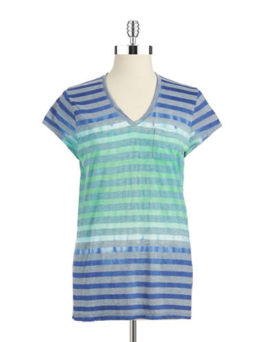 TWO BY VINCE CAMUTO Striped Tie Dyed Shirt