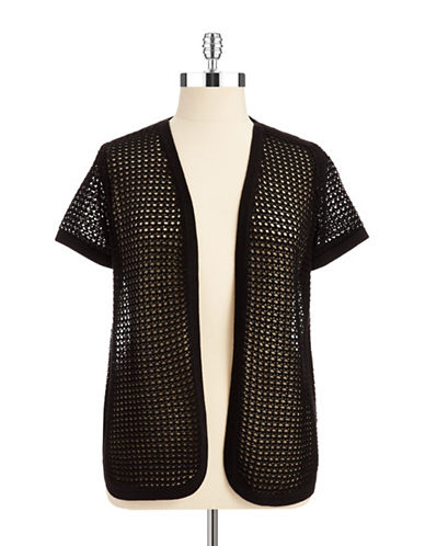 Vince Camuto Plus Plus Short Sleeved Knit Cardigan