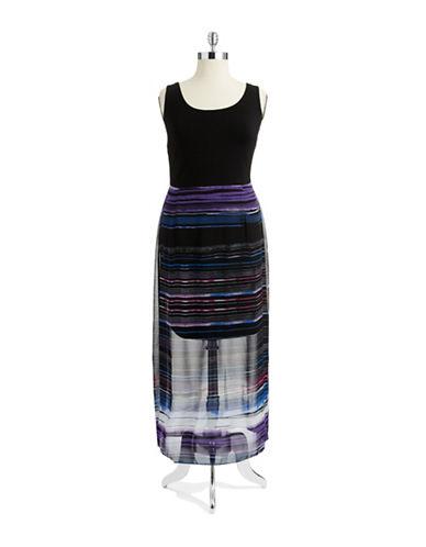 VINCE CAMUTO PLUSPlus Striped Maxi Dress