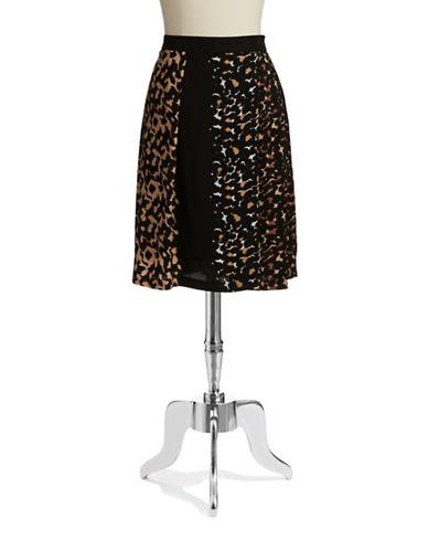 VINCE CAMUTOLeopard Print Skater Skirt