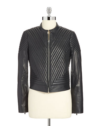 VINCE CAMUTOQuilted Leather Moto Jacket