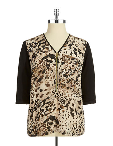 VINCE CAMUTO PLUS Plus Animal Print Tunic