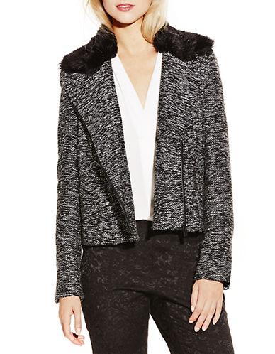 VINCE CAMUTOFaux Fur Collar Tweed Jacket