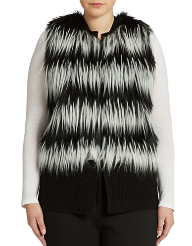 Vince Camuto Signature Plus Faux Fur Vest