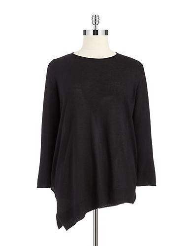 Vince Camuto Plus Plus Ribbed Boat Neck Sweater