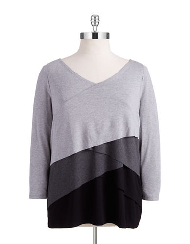 Vince Camuto Plus Plus Colorblock Top