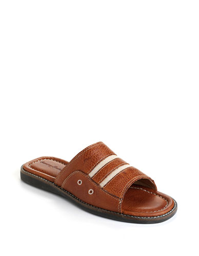 TOMMY BAHAMAAnchors Away Leather Slide Sandals