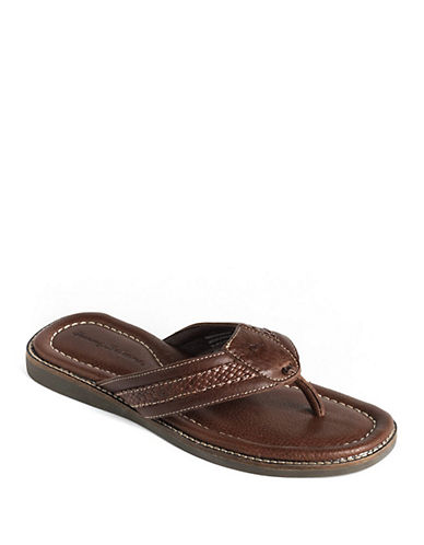 TOMMY BAHAMAAnchors Away Leather Thong Sandals