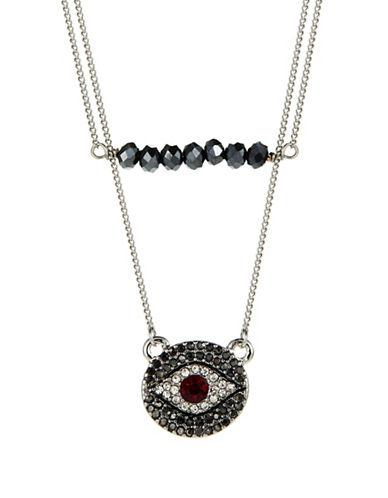 T&C THEODORA & CALLUMTwo Row Evil Eye Necklace