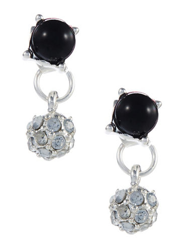 ROBERT ROSE Stone and Pave Drop Stud Earrings