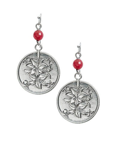 T&C THEODORA & CALLUM Flower and Coin Drop Earrings