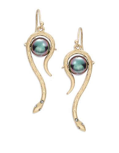 T&C THEODORA & CALLUMSnake Bead Drop Earrings