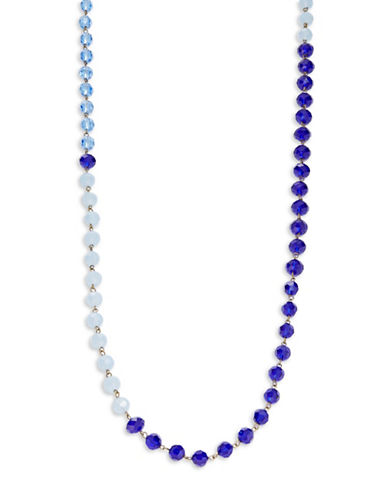 ROBERT ROSE Blue Faceted-Bead Necklace