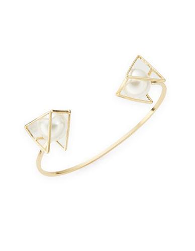 ROBERT ROSEFaux Pearl Cuff Bracelet
