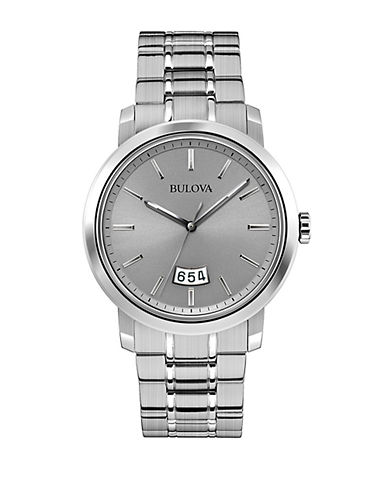 BULOVA Mens Stainless Steel Dress Collection Watch