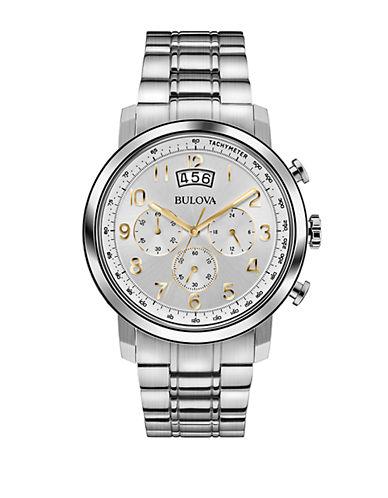 BULOVAMens Stainless Steel Chronograph Watch
