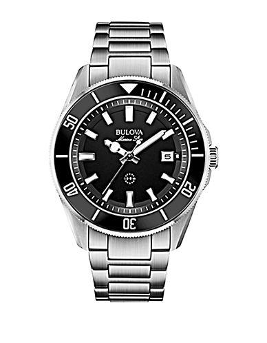 BULOVAMens Silver-Tone Watch