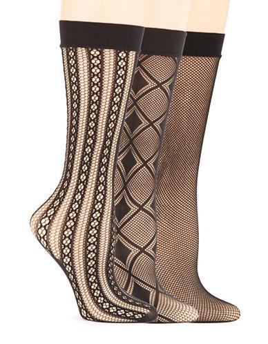ELLEN TRACYThree Pack Fairisle Trouser Socks