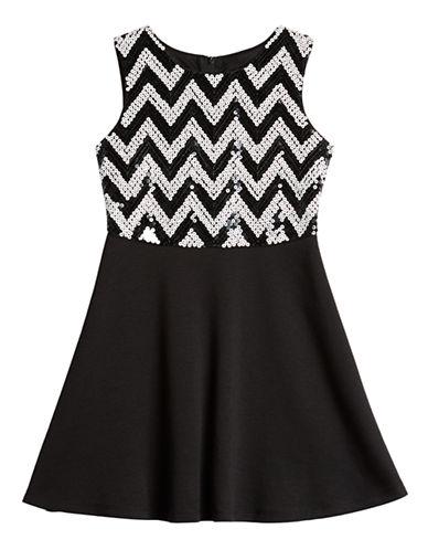 ALLY BGirls 2-6x Sequined Chevron Bodice Dress