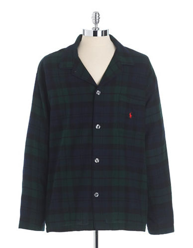 POLO RALPH LAURENCotton Flannel Sleep Shirt