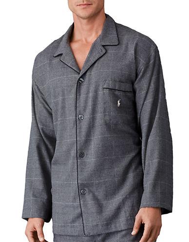 POLO RALPH LAURENWindowpane Flannel Pajama Top