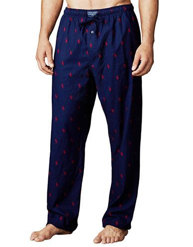 POLO RALPH LAURENPony Print Flannel Pajama Pants