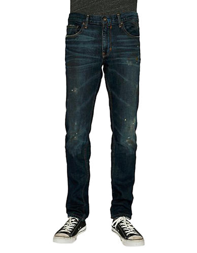 PAIGEFederal Distressed Straight Leg Jeans