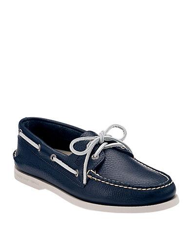 SPERRYNavy A O 2-Eye Leather Boat Shoe - Smart Value