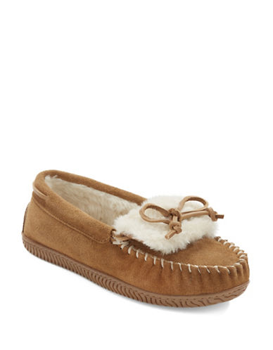 Buy Bree Joy Faux Fur-Lined Suede Moccasins by Sperry online