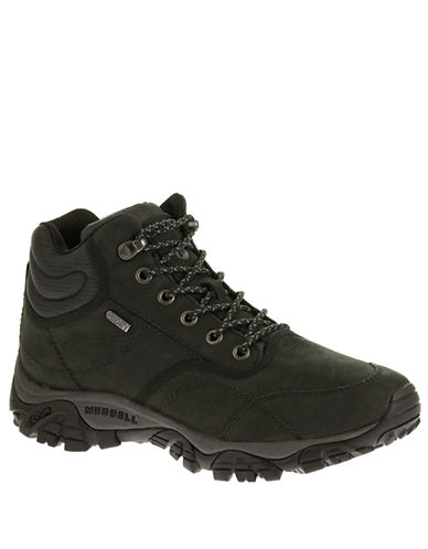 MERRELL Moab Rover Waterproof Leather Mid Ankle Boots