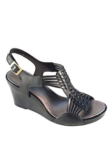 CLARKSStar Gaze Leather Wedge Sandals
