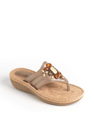 Clarks Women's Shoes, Amaya Yarrow Embellished Wedge Sandals Women's Shoes
