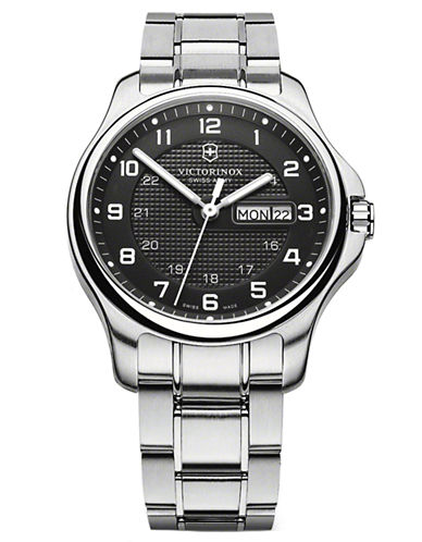 VICTORINOX SWISS ARMYMens Officer Stainless Steel Watch
