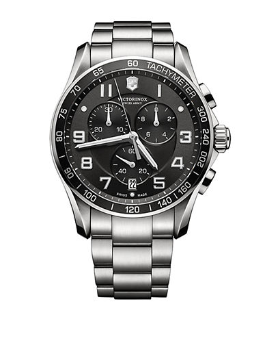 VICTORINOX SWISS ARMYMens Classic XLS Stainless Steel Chronograph Watch