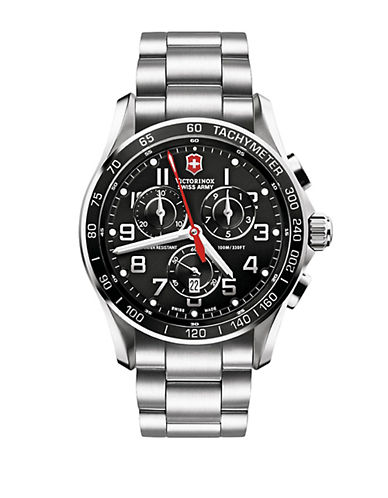 VICTORINOX SWISS ARMY Mens Chronograph Classic Stainless Steel Watch
