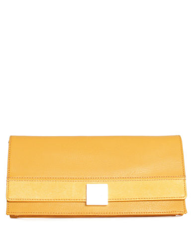 ISAAC MIZRAHI NEW YORK Aven Leather Clutch