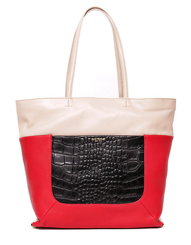 ISAAC MIZRAHI NEW YORKLillian Leather Double Handle Tote Bag