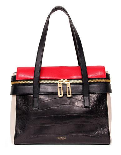 ISAAC MIZRAHI NEW YORKJody Leather Colorblock Satchel