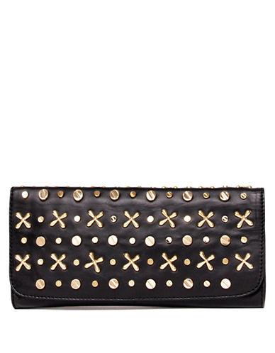 ISAAC MIZRAHI NEW YORKInez Studded Leather Clutch