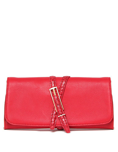 ISAAC MIZRAHI NEW YORKTrudy Leather Clutch