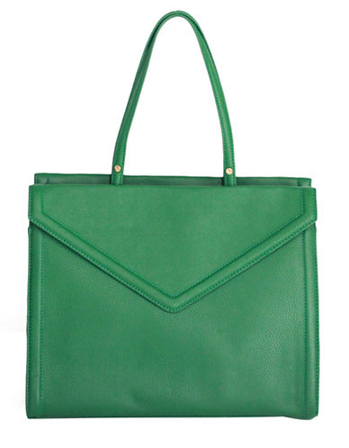 ISAAC MIZRAHI NEW YORK Darcy Leather Satchel