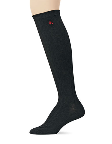 RALPH LAURENCashmere Cable Knit Knee Socks