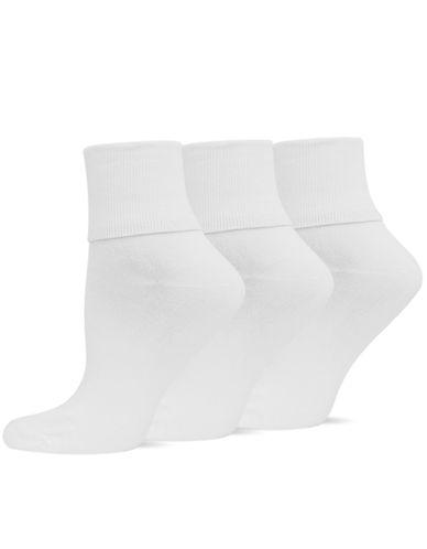HOT SOXTactel Solid Turn Cuff Three Pack Socks