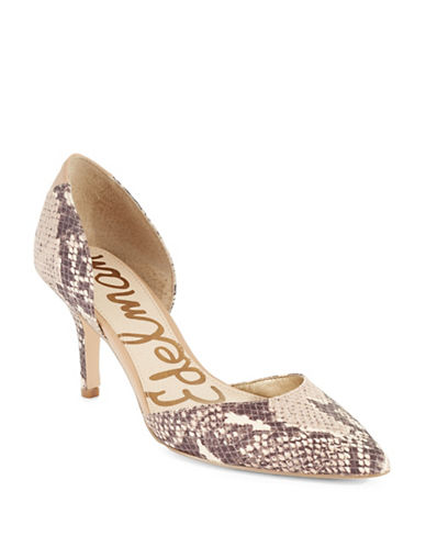 SAM EDELMAN Opal Faux Leather Snake-Printed Pumps
